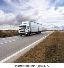 Freight truck on the road