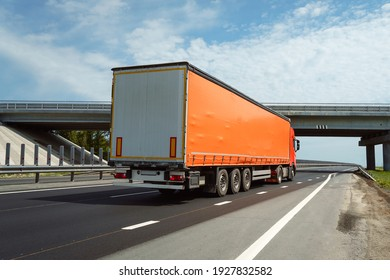 freight truck on the road. transportation.