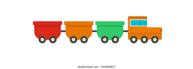 Freight wagons icon. Flat illustration of freight wagons  icon for web.