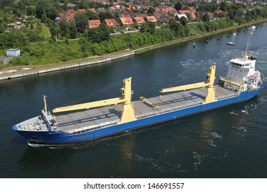 freighter on Kiel Canal