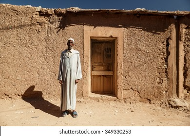 FREIJA, MOROCCO - OCTOBER 29, 2015: Unidentified Moroccan man in a long gown