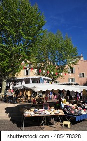 Frejus; France - april 16 2016 : the picturesque market in spring