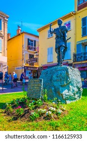 FREJUS, FRANCE, JUNE 16, 2017: Statue of Julius Agricola in Frejus, France