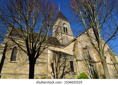 Fremainville; France - march 30 2019 : the Saint Clair church
