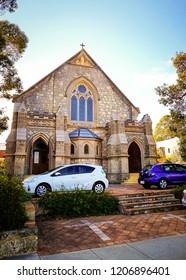 FREMANTLE, AUSTRALIA - September 3, 2017: Morning view of the town near the Fremantle Harbour.