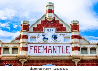 Fremantle, AUSTRALIA - September 8, 2017: The Fremantle Markets is a public market located on the corner of South Terrace and Henderson Street, Fremantle, Western Australia. Built in 1897.