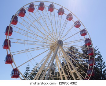 Fremantle, Western Australia - February 22, 2015: Ferris Wheel on the Esplanade in Fremantle.