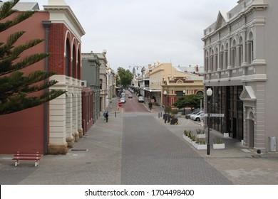 Fremantle, Western Australia AUSTRALIA - October 20, 2019 - View of a street in Fremantle