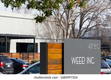 Fremont, CA, USA - Feb 28, 2020: Weee! Inc. Headquarters in Fremont, California. Weee! (www.sayweee.com) sells fresh Asian groceries online and delivers to customers in the United States.
