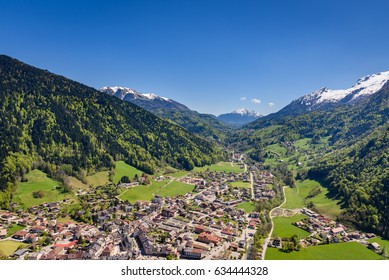 French Alps, France - Village of Thones near Annecy in the Haute-Savoie department in the Rhone-Alpes mountain region in France.