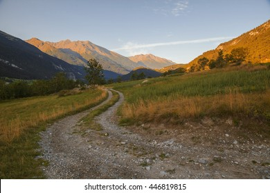 French Alps, Vanoise mountains at sunrise
