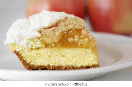 French apple cream cheese pie
