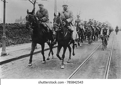 French armies occupying Essen in the German coal, iron, and steel producing Ruhr region in January 1923. Their mission was to extract Germanys WW1 reparations in the form of industrial commodities