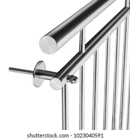 French Balkony Stainless Steel detail isolated