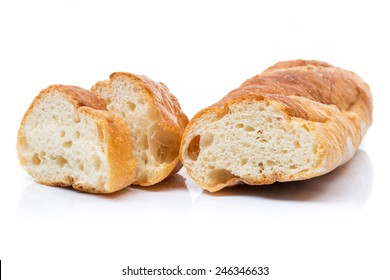 French bread isolate on white background