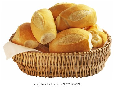 French bread isolated on white backgrond