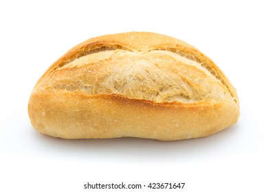 French bread, isolated on the white background