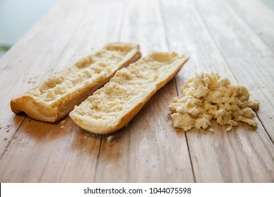 French bread scooped out for less carbs