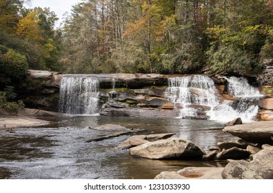 French Broad Falls in the Nantahala National Forest in western North Carolina.