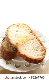 French brown bread with honey