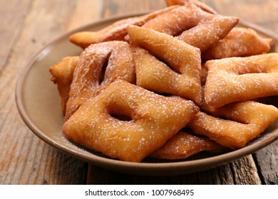 french bugne, pastry for carnival