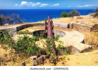 French cannon, Antsiranana, Diego Suarez, Madagascar