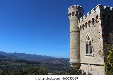 French Chateau with blue sky