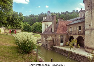 French Chateau of Bussy Rabutin in Burgundy