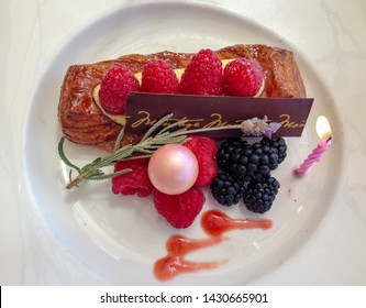 French Chocolate Mousse Dessert with Berries