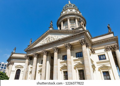 French Church and French Protestant church on Gendarmenmarkt square in Berlin, Germany.