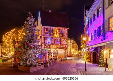 French city Colmar on Christmas Eve.