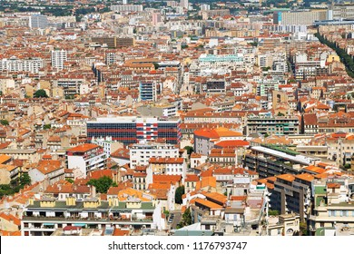 French City Marseille France, elevated view over the town