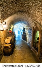 French colonial wine cellar at Ba Na Hills, Vietnam