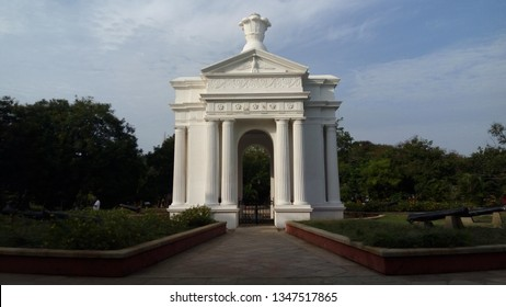 French colony at Puducherry, India - July 2017