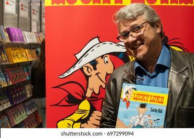 Achdé, french comic artist, Lucky Luke,at Frankfurt Bookfair 2012, Frankfurt am Main