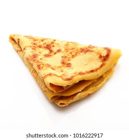 french crepes on white background