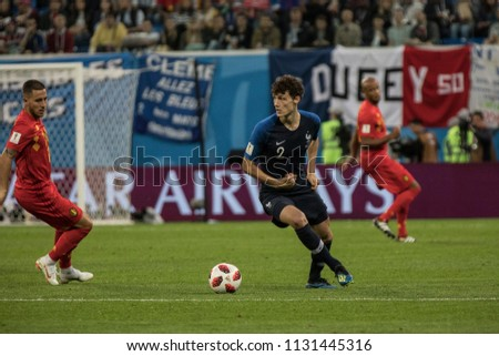4fd47e5f9 French defender Benjamin Pavard during a 1 2 final football match at World  Cup 2018