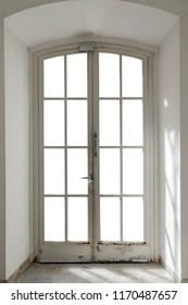 French door isolated on white (contains clipping path)