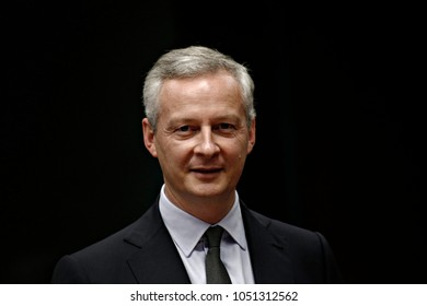 French finance minister, Bruno Le Maire attends in Eurogroup finance ministers meeting at the European Council in Brussels, Belgium on Jul. 10, 2017.