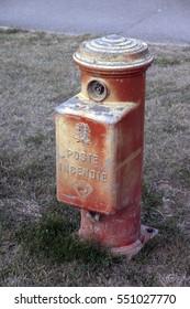 French fire hydrant (bouche d'incendie) at St Martin De Re, Il de Re