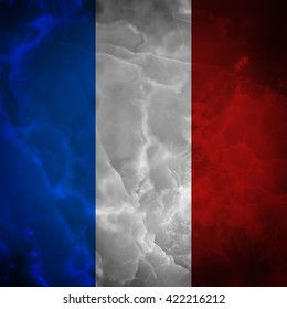 French flag. Amazing stone texture with multicolor stripes.