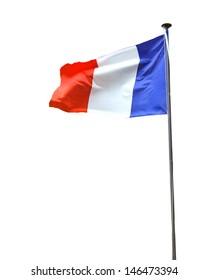 French flag isolated on white background