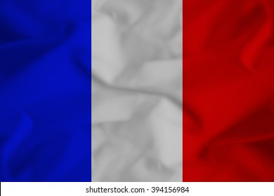 french flag with some folds in it