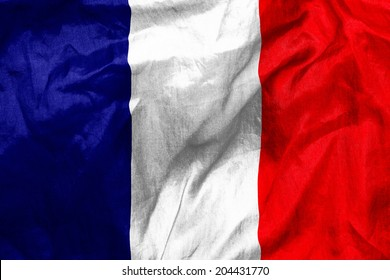 French flag texture crumpled up