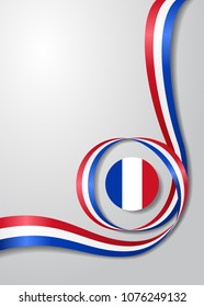 French flag wavy abstract background. Raster version.