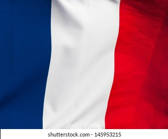 A French flag in the wind
