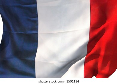 French flag in the wind.