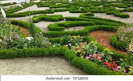 French formal garden, garden in the French manner.