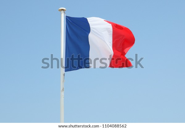 french France flag floats in the wind