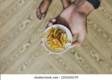 french fries in coffeshop